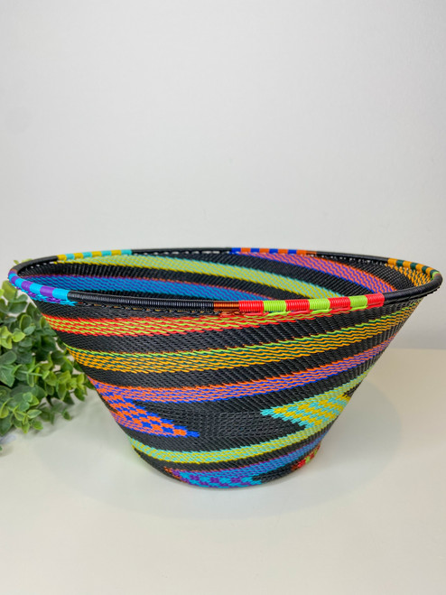 Telephone Wire Large Half Cone - African Rainbow