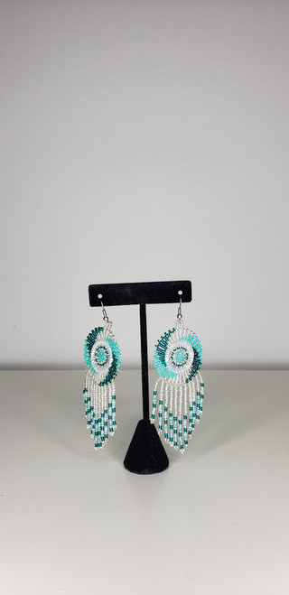 African Zulu Beaded Chandelier Earring - 003