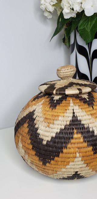 Vintage Botswana Basket - 003