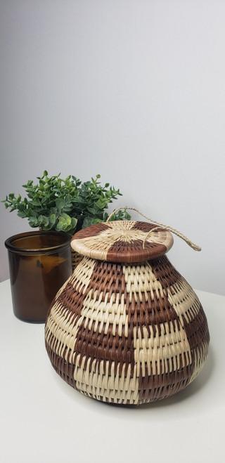 Vintage Bayei & Hanbukushu Handwoven Basket - 007