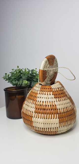 Vintage Bayei & Hanbukushu Handwoven Basket - 008