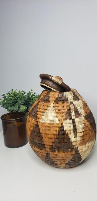 Vintage Bayei & Hanbukushu Handwoven Basket - 011