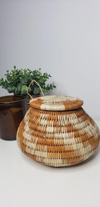 Vintage Bayei & Hanbukushu Handwoven Basket - 012