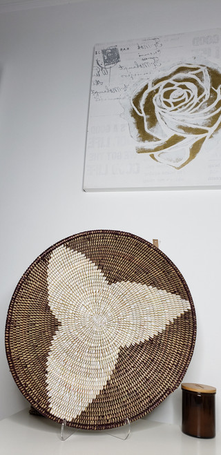 Senegalese Basket - Brown/White