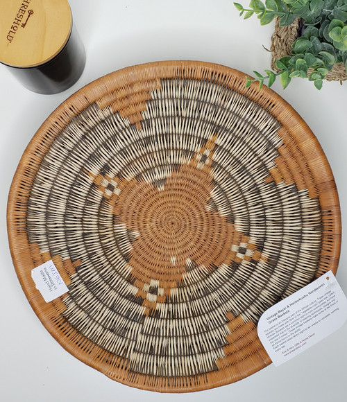 Vintage Bayei & Hanbukushu Handwoven Grass Baskets - N6IM
