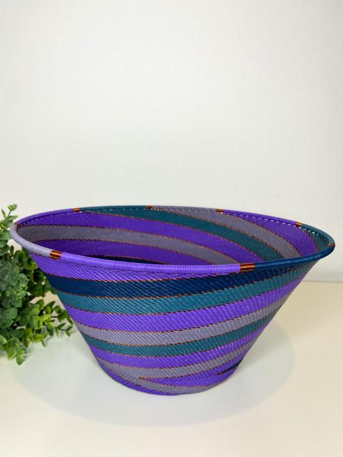 Telephone wire Large Half Cone - Purple