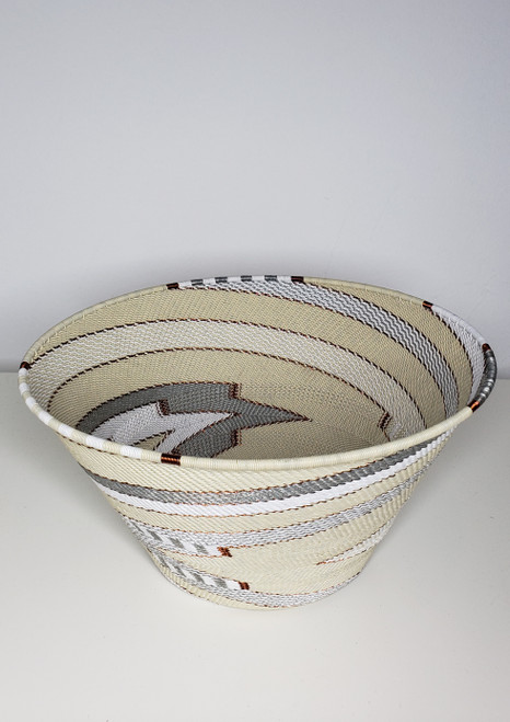 Telephone wire Large Half  Cone - African Ivory