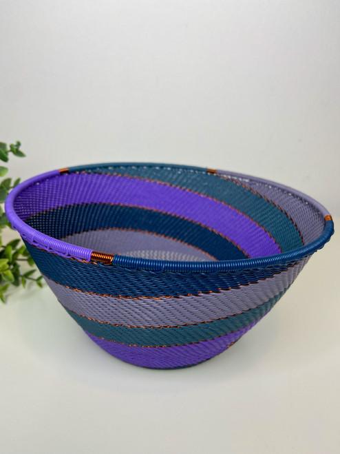 Telephone wire Large Deep Bowl- Purple