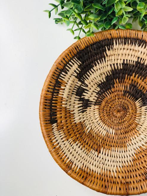 Vintage Bayei & Hanbukushu Handwoven Basket - 013