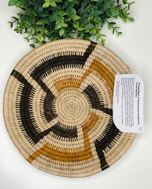 Vintage Bayei & Hanbukushu Handwoven Basket - 015