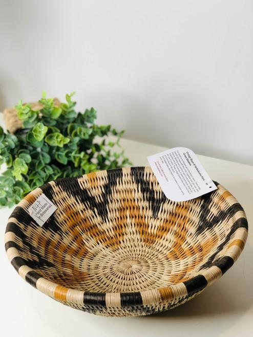 Vintage Bayei & Hanbukushu Handwoven Basket - 019