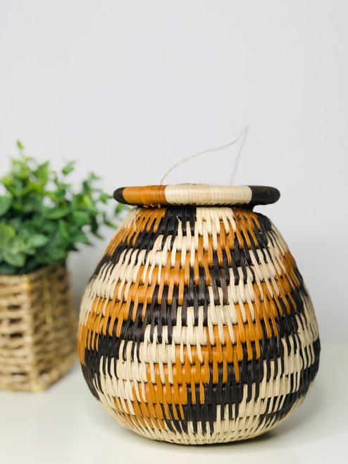 Vintage Bayei & Habukushu Handwoven Basket - K3P