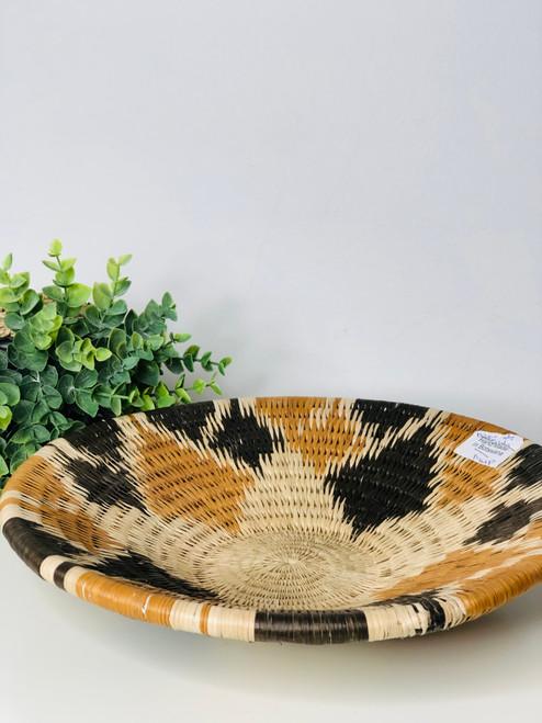 Vintage Bayei & Hanbukushu Handwoven Basket - 025