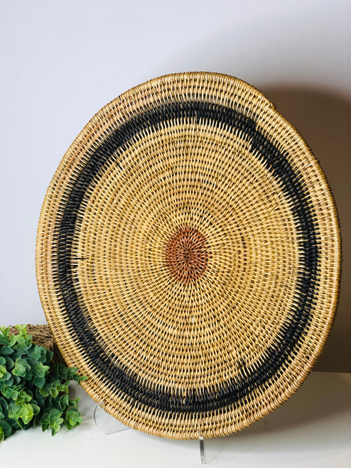 "17"" Zim Vintage Basket - Black-Red"