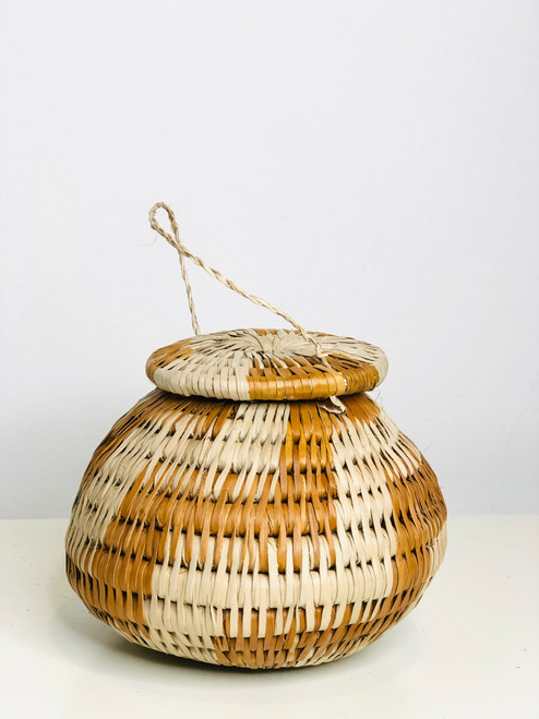 "Vintage Bayei & Hanabukshu Botswana Basket 003 - 4"""