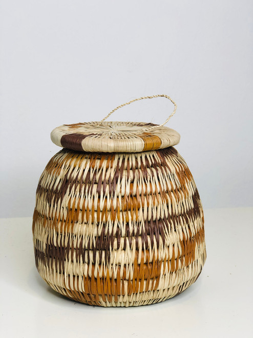 "Vintage Bayei & Hanabukshu Botswana Basket 004 - 4"""