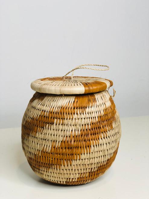 "Vintage Bayei & Hanabukshu Botswana Basket 005 - 4"""