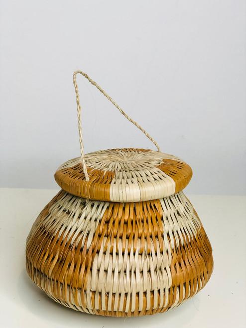 "Vintage Bayei & Hanabukshu Botswana Basket 006 - 4"""