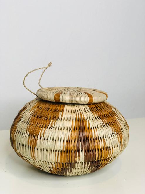 "Vintage Bayei & Hanabukushu Botswana Basket 006 - 4"""