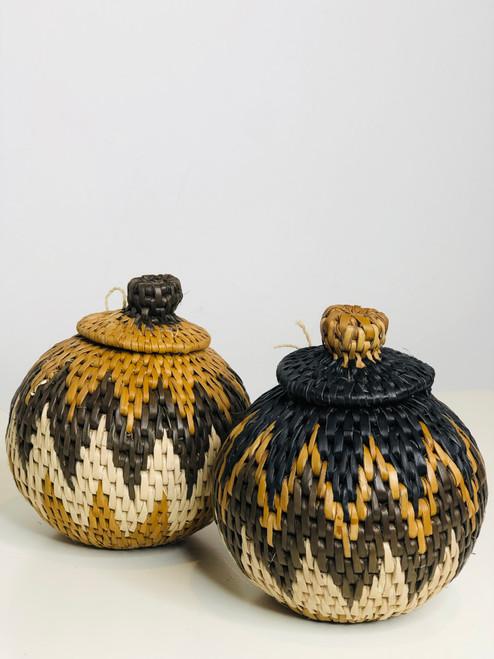 "Vintage Bayei & Hanabukshu Botswana Basket 007 - 4"""