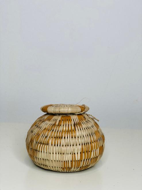 Vintage Bayei & Habukushu Handwoven Basket - 015