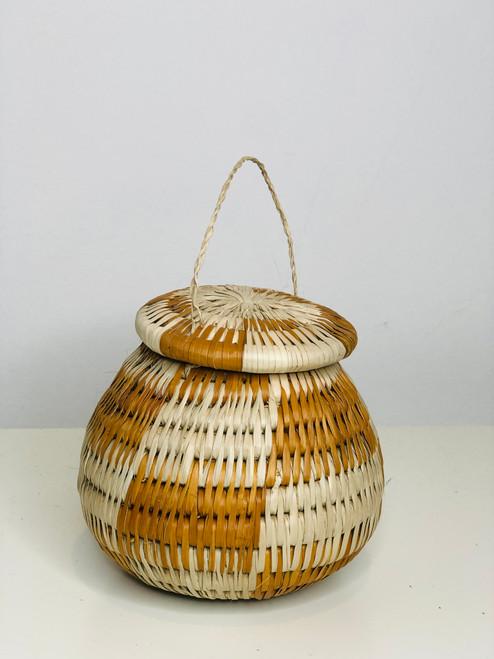 Vintage Bayei & Habukushu Handwoven Basket - 016