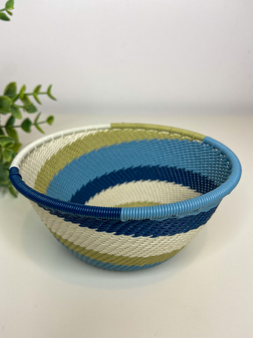 Telephone wire Small deep Wire Bowl - Moonstone