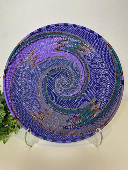 Telephone Wire Round Tray- Purple