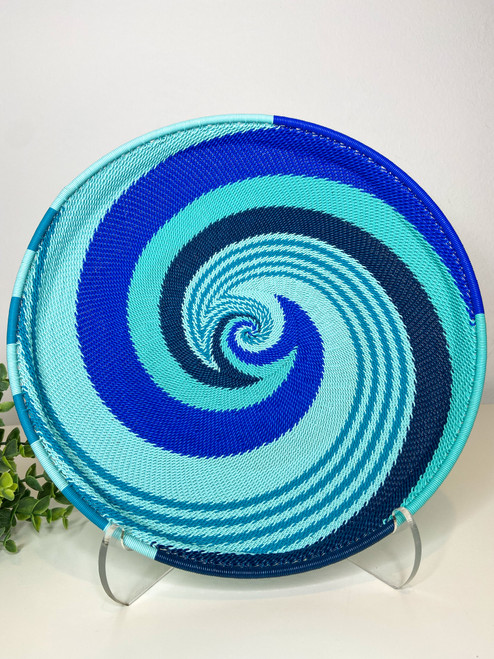 Telephone Wire Round Tray- African Ocean