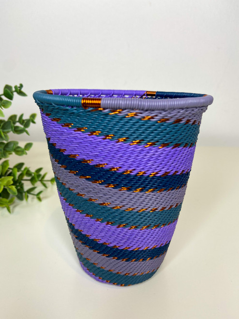 Telephone Wire Cup- Purple