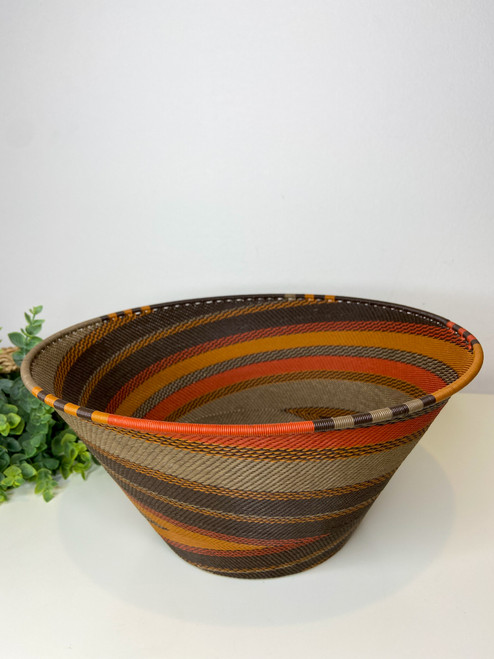 Telephone wire Large  Half Cone - African Clay