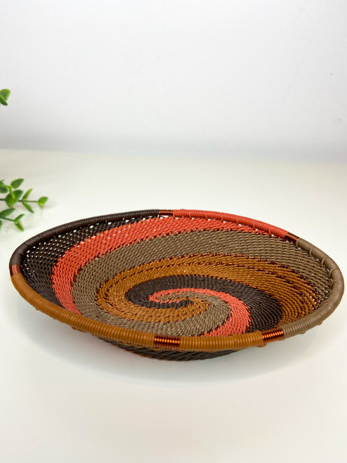 Telephone Wire Trinket Dish - African Clay
