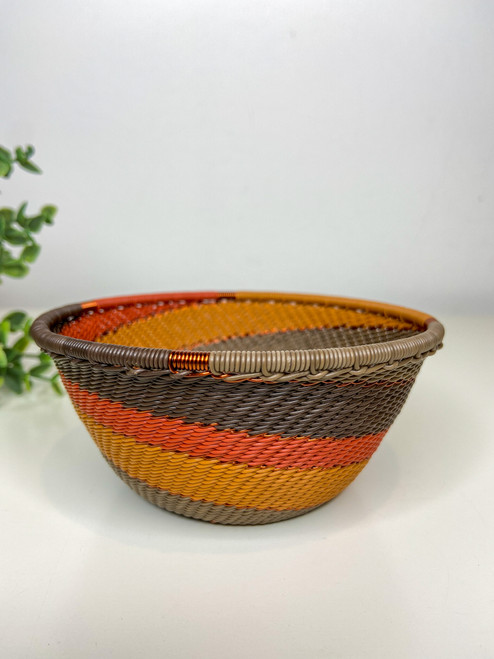 Telephone wire Small Deep Bowl - African Clay
