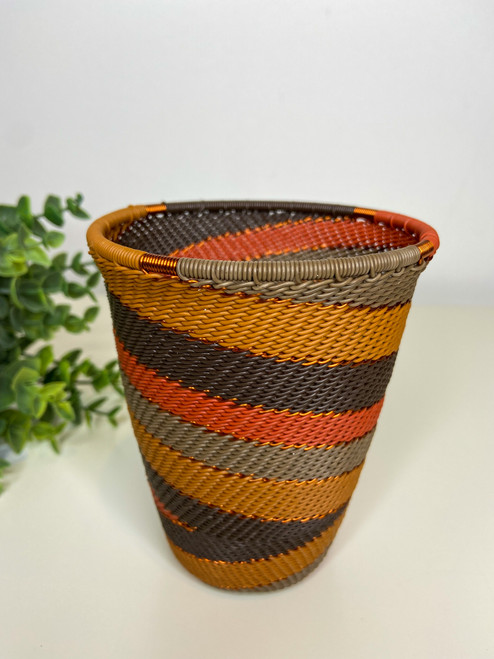 Telephone Wire Cup- African Clay