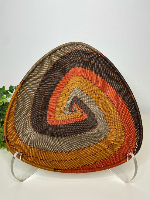 Telephone wire Triangle  Plate - African Clay