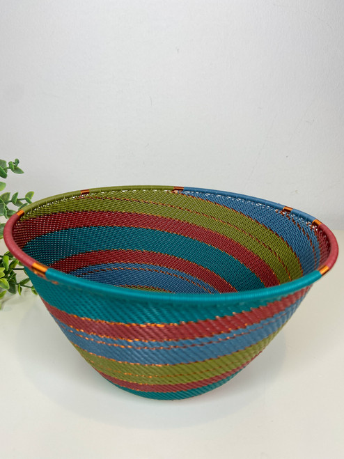 Telephone wire Large Deep Bowl - Turaco