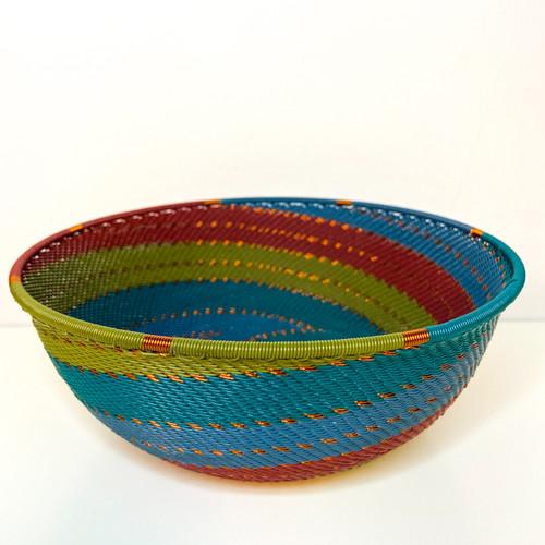 Telephone wire Medium Shallow Bowl - Turaco