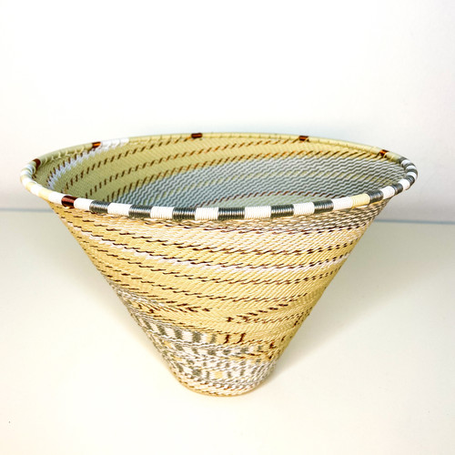 Telephone wire Large Deep Cone - African Ivory