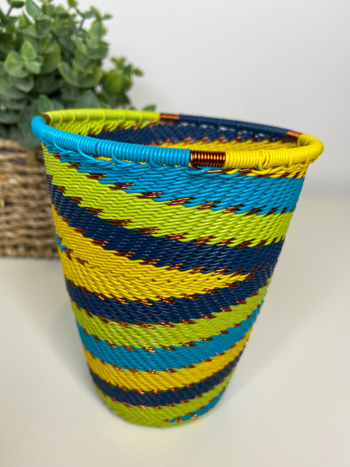 Telephone Wire Cup- Bohemian Blue