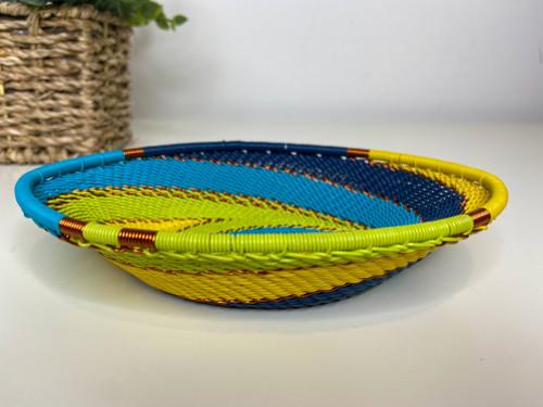 Telephone Wire Trinket Dish - Bohemian Blue