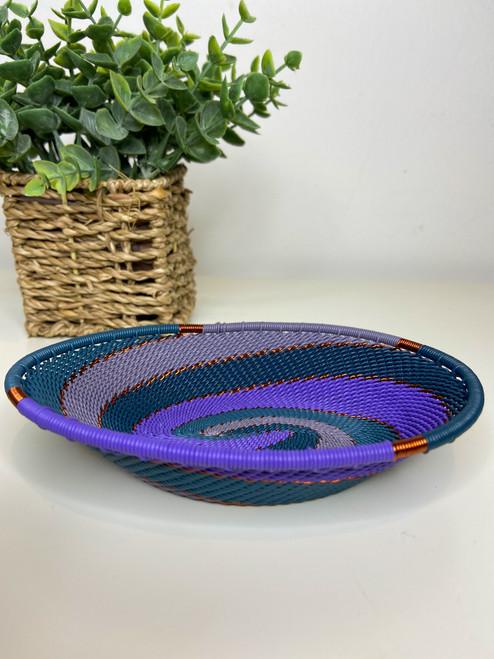 Telephone Wire Trinket Dish - Purple