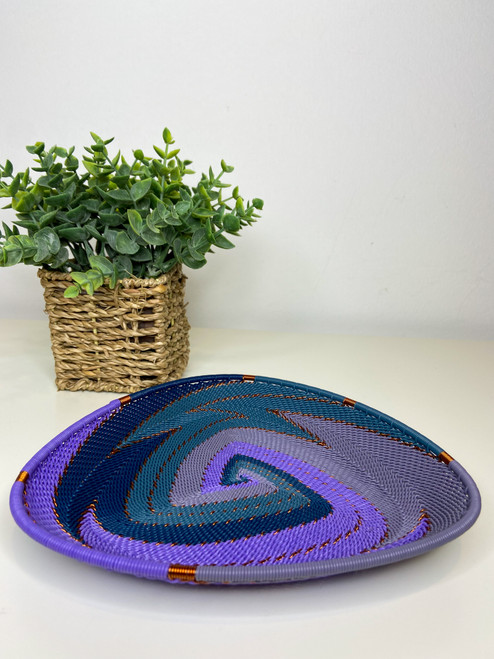 Telephone wire Triangle  Plate - Purple