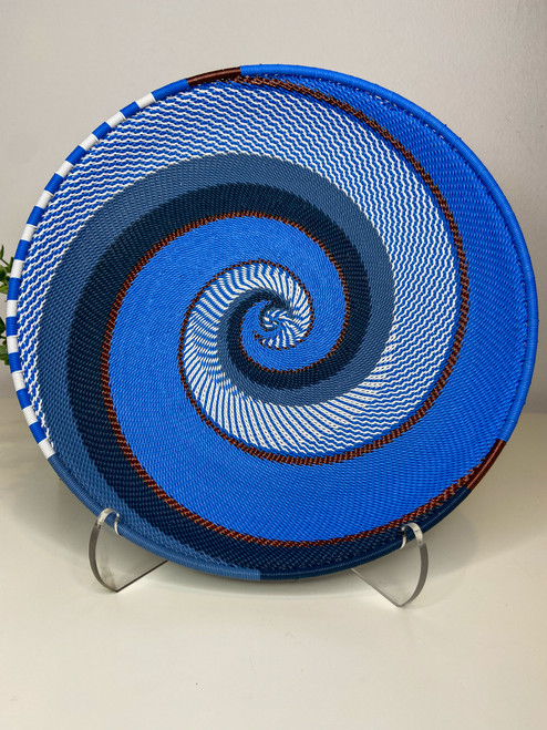 Telephone Wire Round Tray- African Sky