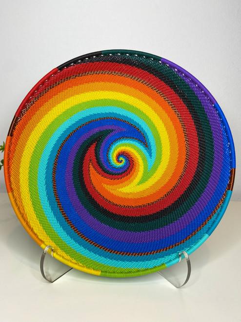 Telephone Wire Round Tray- Full Rainbow