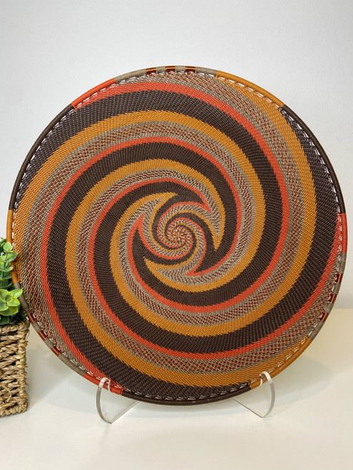 Large Open-V Plate - African Clay