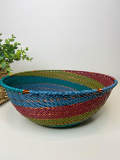 Large Shallow Bowl - Turaco