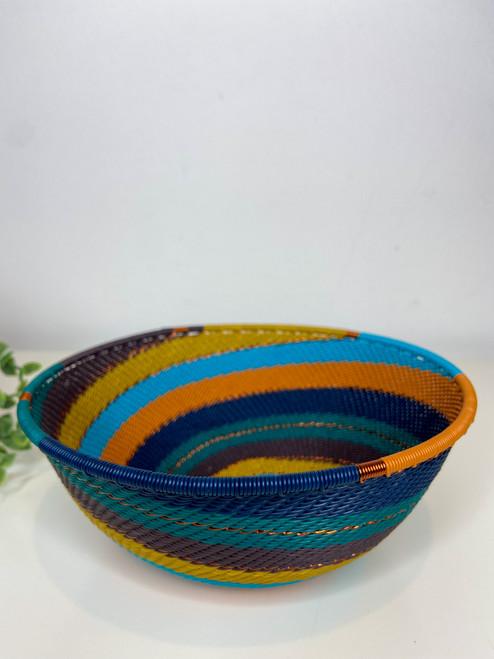 Telephone Wire  Medium Bowl - Kingfisher