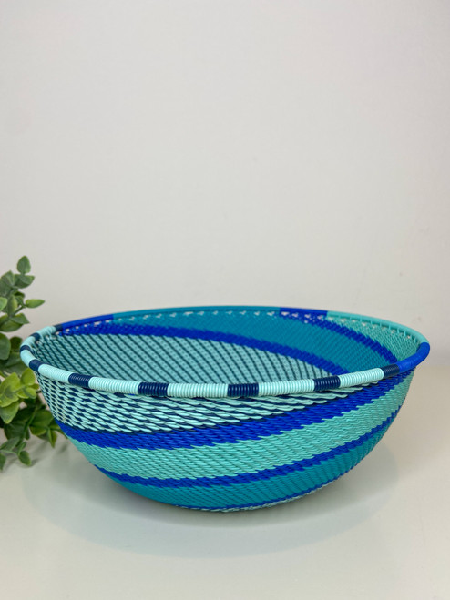 Large Shallow Bowl - African Ocean