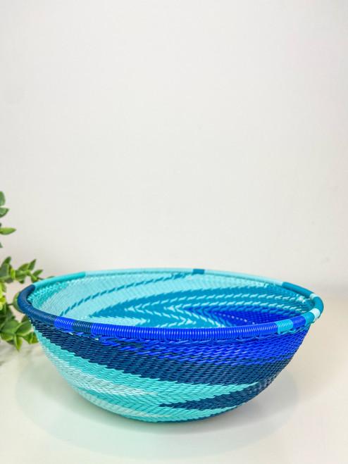 Telephone Wire  Medium Bowl - African Ocean
