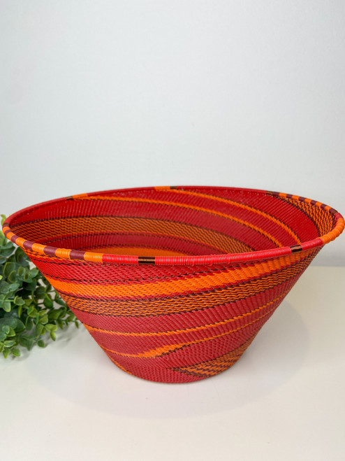 Telephone wire Large Half Cone - African Ember